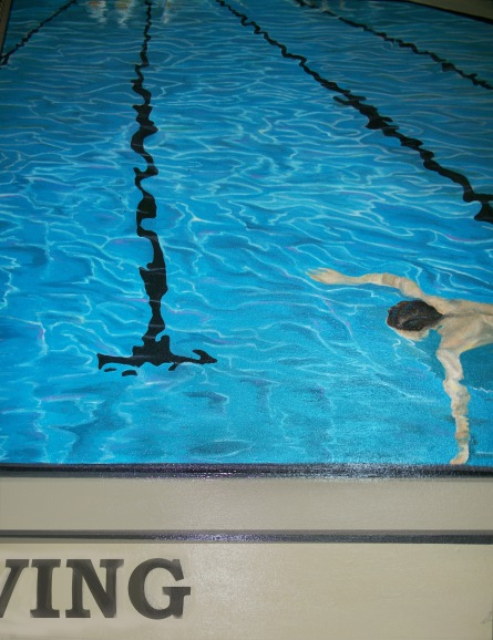 No Diving 36 x 44 Oil